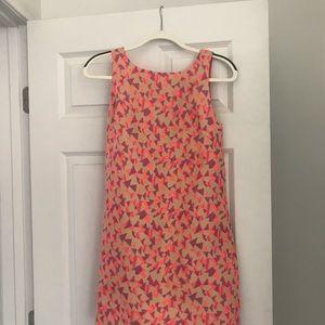 Trina Turk colorful dress, pleated back, pockets!